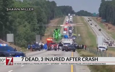 Coroner Identifies Those Killed in I-85 Crash in Franklin County