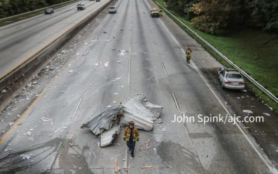9 vehicles involved in tractor-trailer crash that shut down I-285 for hours