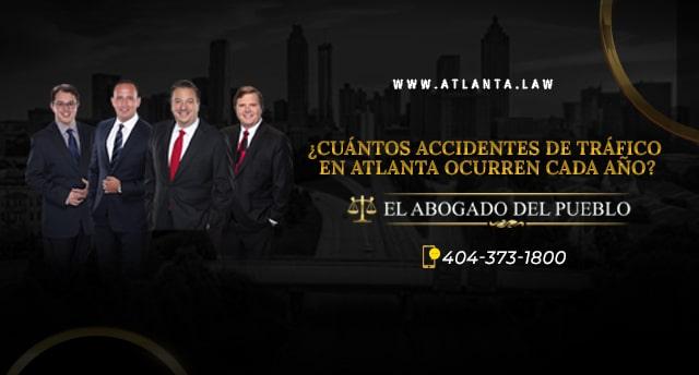 ¿CUÁNTOS ACCIDENTES DE TRÁFICO EN ATLANTA OCURREN CADA AÑO?