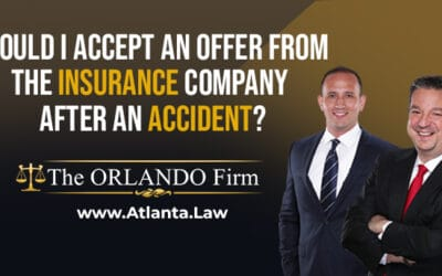 Should I accept an offer from the insurance company after an accident?
