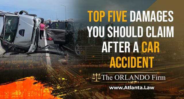 Top Five Damages You Should Claim After A Car Accident title